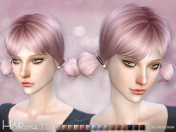 Sims 4 Hair N11 by S Club MK at TSR