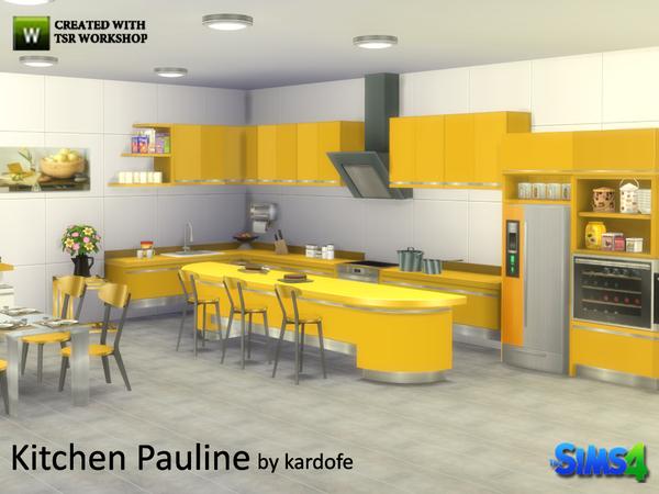 Pauline kitchen by kardofe at TSR image 2146 Sims 4 Updates
