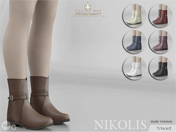 Sims 4 Madlen Nikolis Boots male by MJ95 at TSR