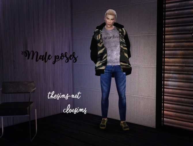 Male poses at Cloe Sims image 2173 670x508 Sims 4 Updates