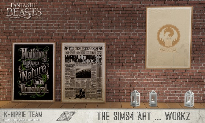 Sims 4 10 Fantastic Artworks and Where to Find Them set 1 at K hippie