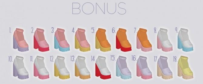 Sims 4 Skully shoes recolors at Kalewa a