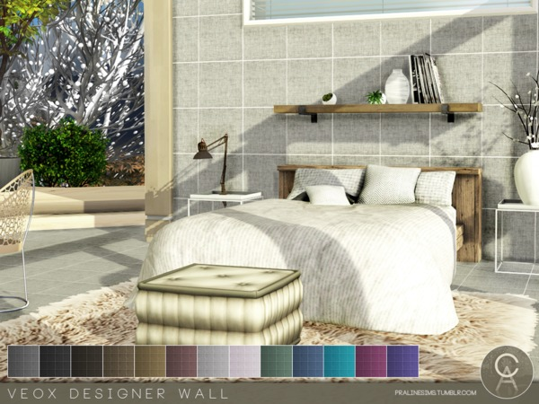 Sims 4 VEOX Designer Wall by Pralinesims at TSR