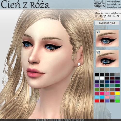 Sims 4 Eyeliner No.4 at Cień z róża