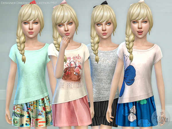 Sims 4 Designer Dresses Collection P57 by lillka at TSR