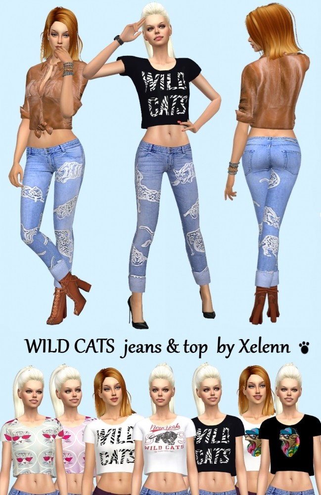 Sims 4 Pink Panther & Wild cats set at Xelenn