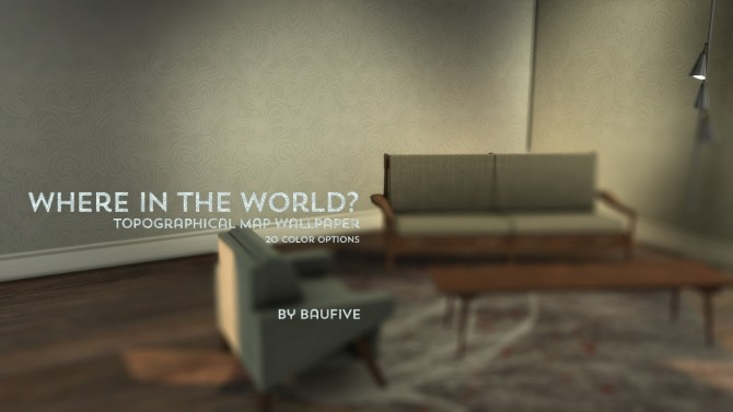 Topographical Wallpaper at Baufive – b5Studio image 2461 670x377 Sims 4 Updates