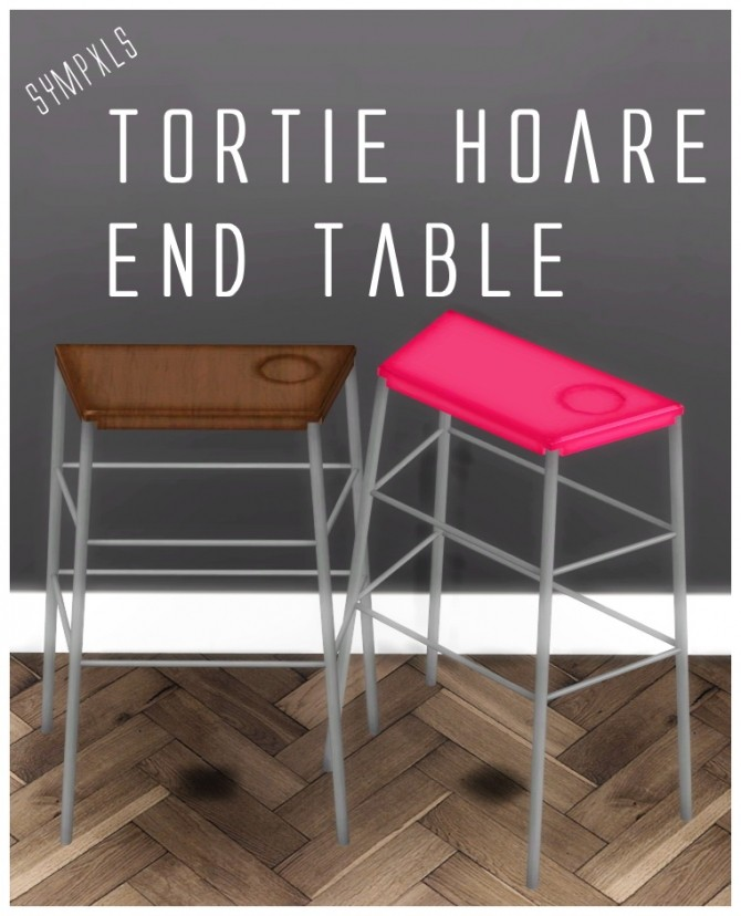 Sims 4 Tortie Hoare End Table by Sympxls at SimsWorkshop