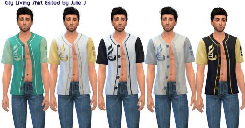 Sims 4 City Living Tee Edited at Julietoon – Julie J