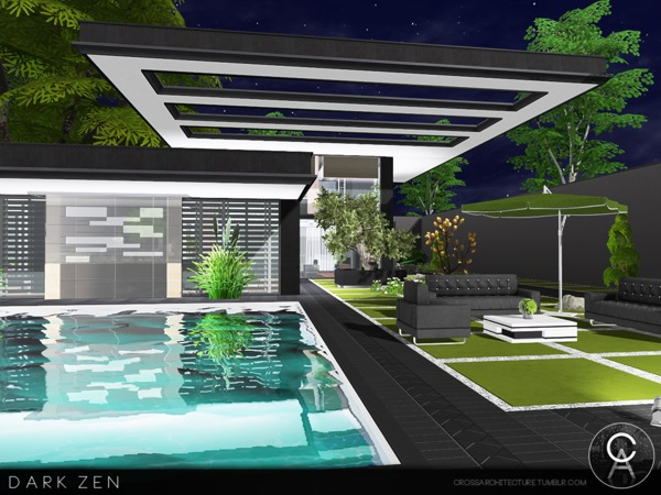 Dark Zen house by Pralinesims at TSR image 2613 Sims 4 Updates