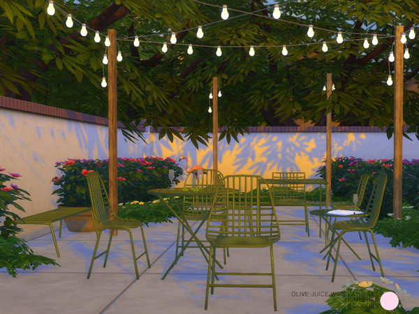 Olive Juice Wire Patio Set by DOT at TSR image 2617 Sims 4 Updates