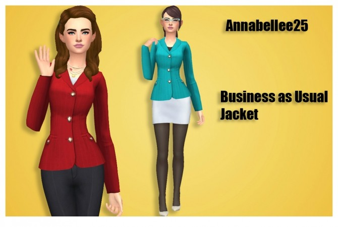 Sims 4 Womens Jackets by Annabellee25 at SimsWorkshop