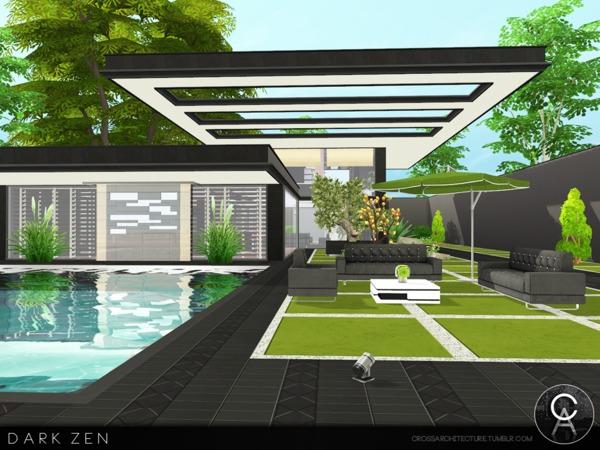 Dark Zen house by Pralinesims at TSR image 2713 Sims 4 Updates
