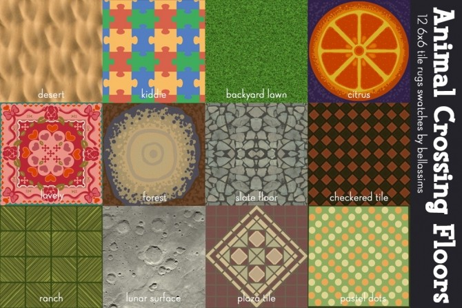 Animal Crossing wallpapers and floors at Bellassims image 2752 670x447 Sims 4 Updates