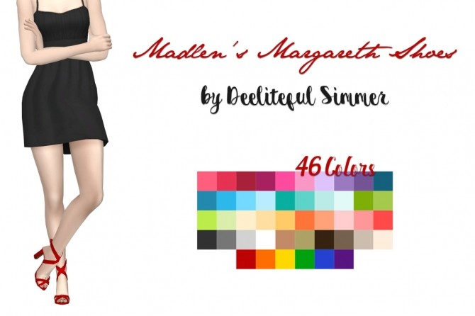 Sims 4 Madlens Margareth shoes recolors at Deeliteful Simmer