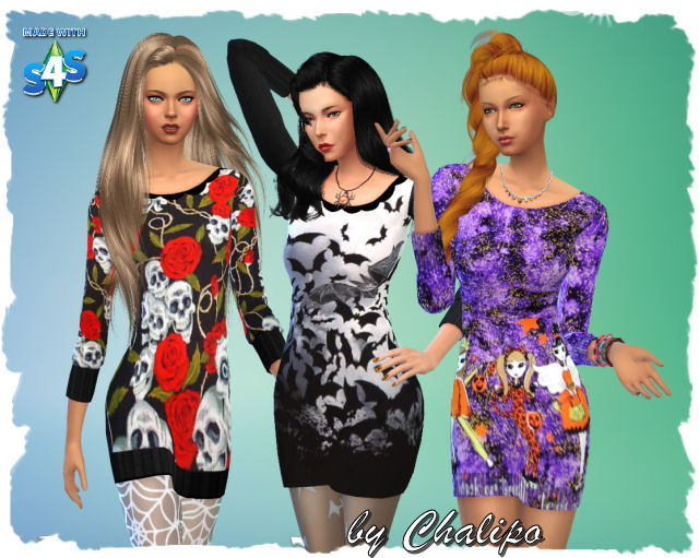 3 Halloween dresses by Chalipo at All 4 Sims image 277 Sims 4 Updates