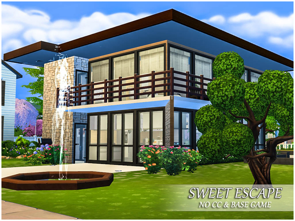 Sims 4 Sweet Escape small house by Caroll91 at TSR