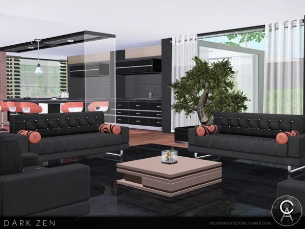 Dark Zen house by Pralinesims at TSR image 2812 Sims 4 Updates