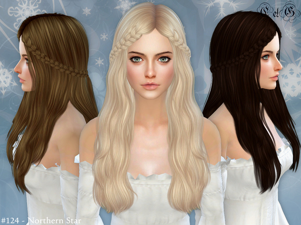 Sims 4 Northern Star Conversion Hairstyle by Cazy at TSR
