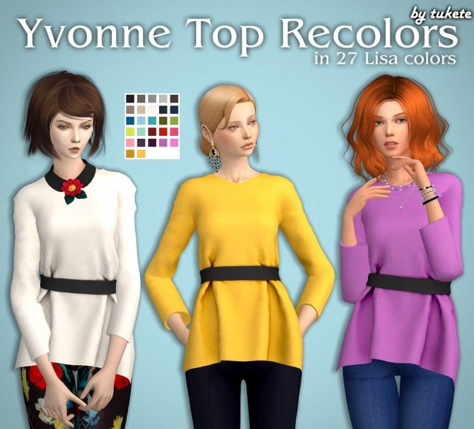 Yvonne Top Recolors at Tukete image 289 670x606 Sims 4 Updates