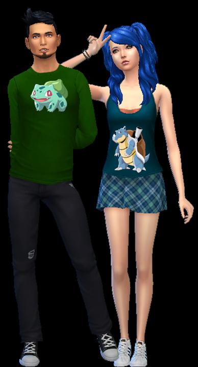 Sims 4 First Gen Pokemon Shirts Part 1 at Aurimon