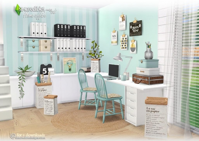 Simcredible Designs 4 Home Office Set Sims 4 Compilation