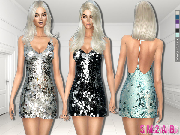 Sims 4 Sequin Dress by sims2fanbg at TSR