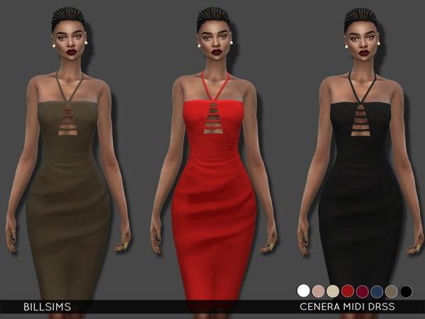 Cenera Midi Dress by Bill Sims at TSR image 2919 Sims 4 Updates