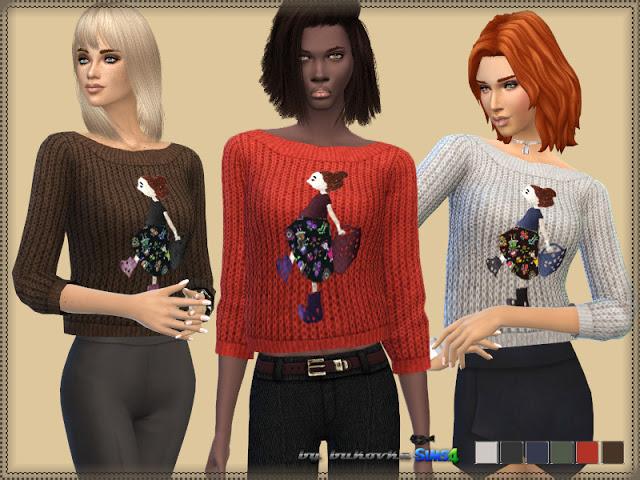 Sims 4 Fashionista Sweater at Bukovka