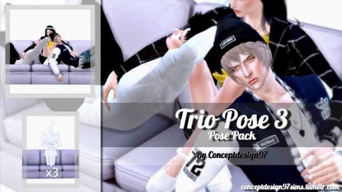 Sims 4 Trio Pose 3 at ConceptDesign97
