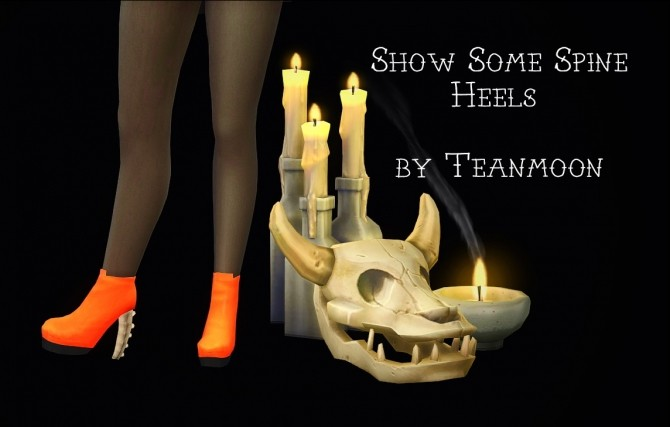 Sims 4 Show Some Spine Boots at Teanmoon
