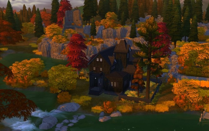 Sims 4 Pumpkin Pillow & Spooky Victorian Home at Femmeonamissionsims