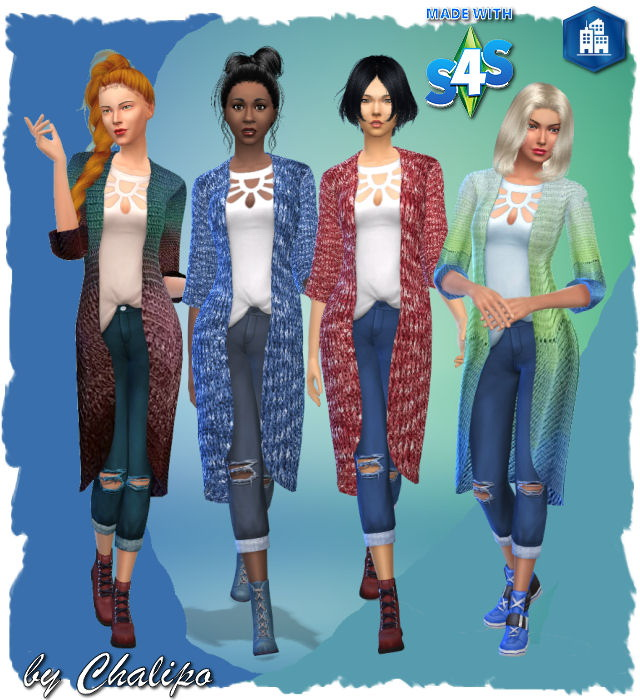 City Jackenoutfit by Chalipo at All 4 Sims image 3051 Sims 4 Updates