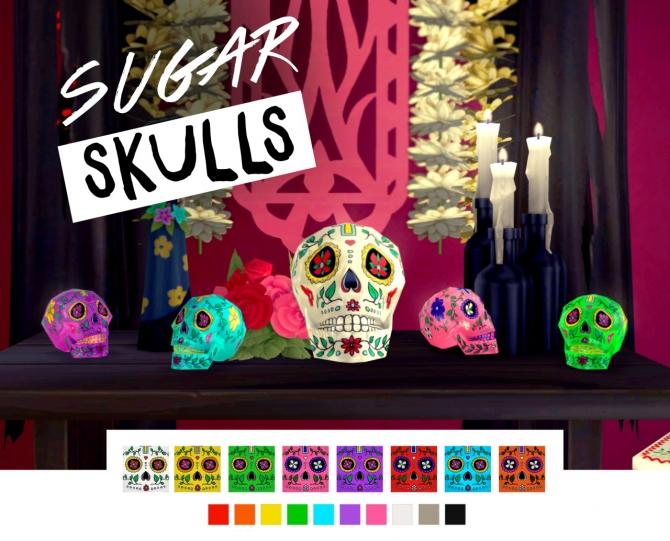 D 236 A De Los Muertos Calavera Sugar Skulls At