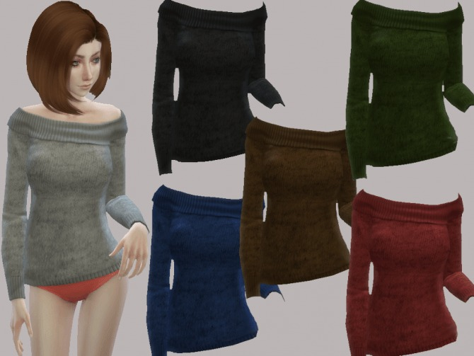 Sims 4 6 female tops by Chella at Mod The Sims