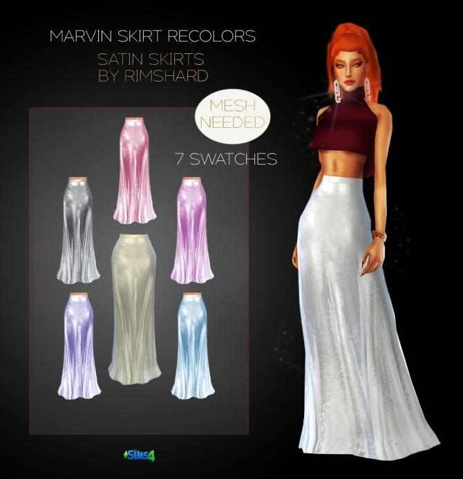 Sims 4 SATIN SKIRT recolors at Rimshard Shop