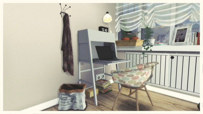 Sims 4 Gray & Pink Living Room at Dinha Gamer