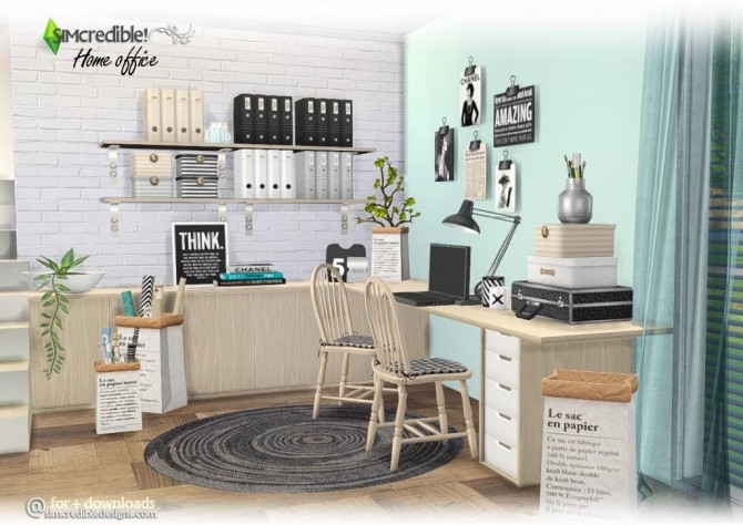 Home Office compilation of lovely items at SIMcredible! Designs 4 image 3212 670x474 Sims 4 Updates
