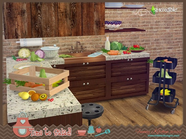 Sims 4 Funny kitchen series Time to salad by SIMcredible at TSR