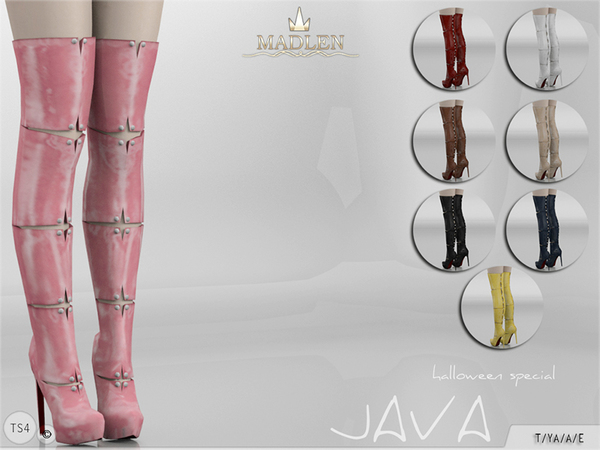 Sims 4 Madlen Java Boots by MJ95 at TSR