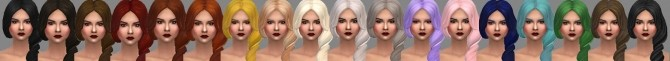 Sims 4 Maxis Match EA Twist Hair Recolor by bvttleshots at Mod The Sims