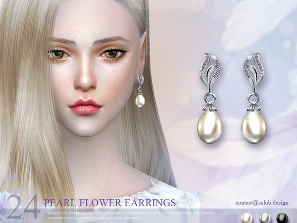 Earrings 24(f) by S Club LL at TSR image 339 Sims 4 Updates