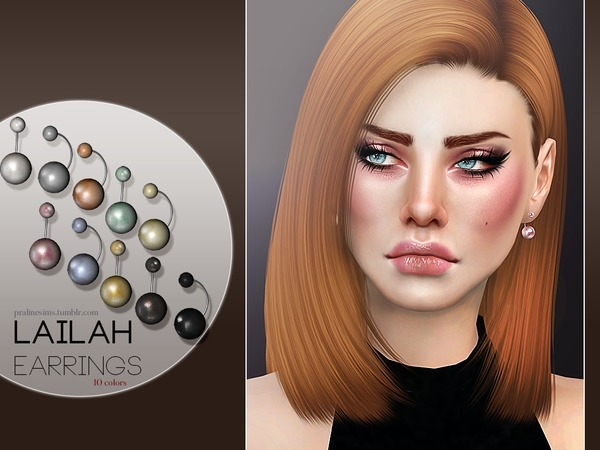 Sims 4 Lailah Earrings by Pralinesims at TSR
