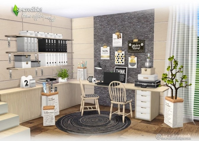Home Office compilation of lovely items at SIMcredible! Designs 4 image 356 670x474 Sims 4 Updates