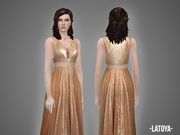 Latoya gown by April at TSR image 359 Sims 4 Updates