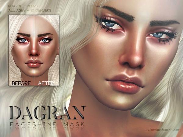 Sims 4 Dagran Faceshine Mask N04 by Pralinesims at TSR