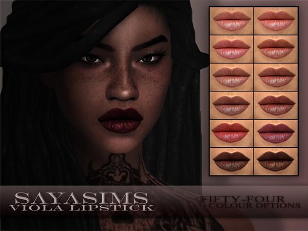 Sims 4 Viola Lipstick by SayaSims at TSR