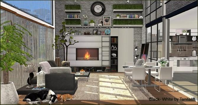 Black White Penthouse At Tanitas8 Sims 187 Sims 4 Updates