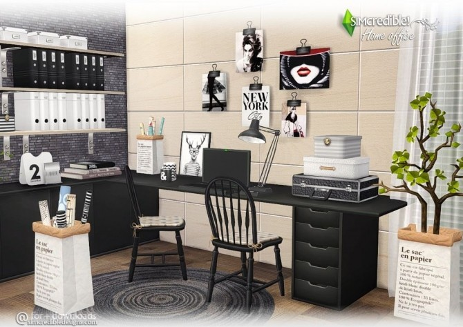 Home Office compilation of lovely items at SIMcredible! Designs 4 image 377 670x474 Sims 4 Updates