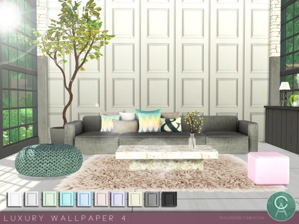 Luxury Wallpaper 4 by Pralinesims at TSR image 3810 Sims 4 Updates